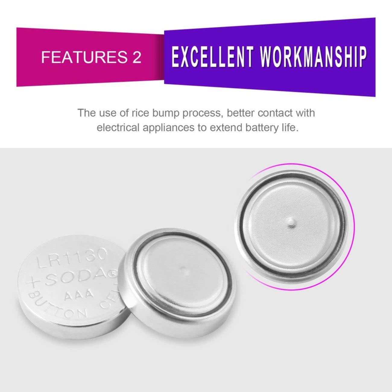 Elviray 10 pz//Pacco AG10 LR1130 389A LR54 L1131 189 Batteria alcalina 1.5 V Batteria a Bottone per Orologio Promozione Orologio