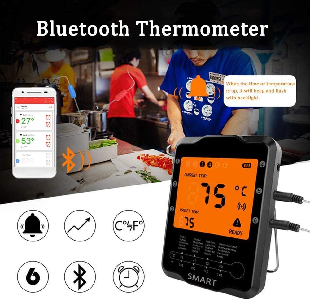 Drahtlose Fernbedienung Digitales Kochthermometer Fleischthermometer Wasserdichtes Grillthermometer Mit Kalibrierung Digitales Kochthermometer Für Die Küche Schwarz