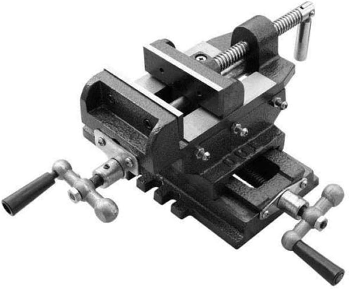 "4/"" Cross Drill Press Vise Slide Metal Milling 2 Way X-Y Clamp Machine Heavy Duty"