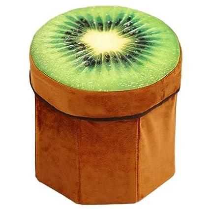 Franela 3d frutas almacenamiento taburete Creative caja de almacenamiento para zapatos, juguete