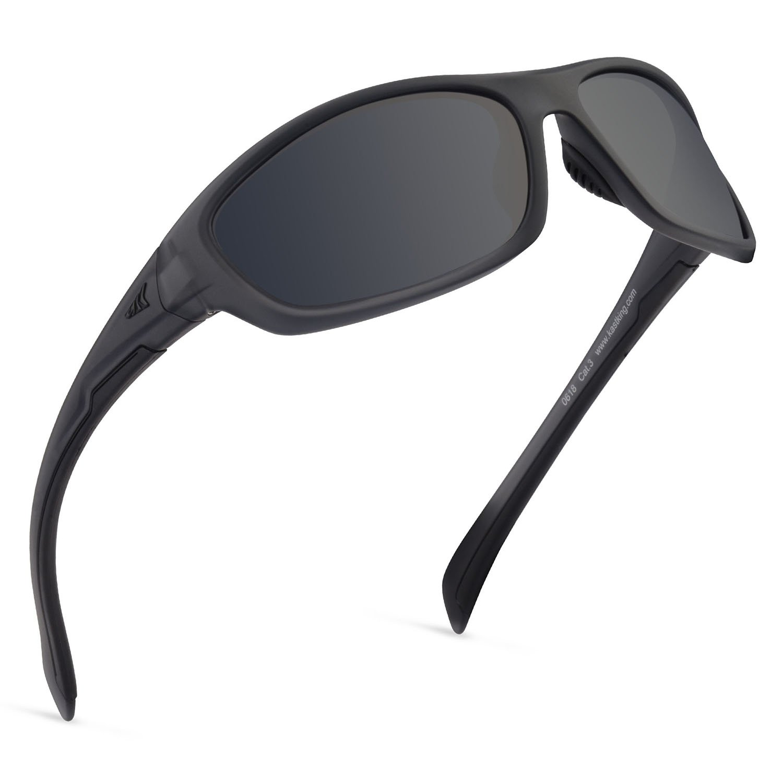 Kastking Hiwassee Polarized Sport Sunglasses, Matt Smoke Crystal Frame,Smoke Lens by KastKing