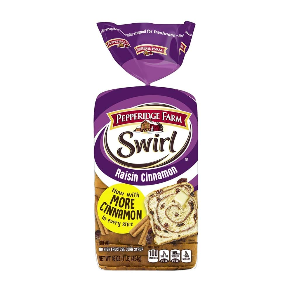 Pepperidge Farm Raisin Cinnamon Swirl Bread Pack Of 2 Amazon Com Grocery Gourmet Food