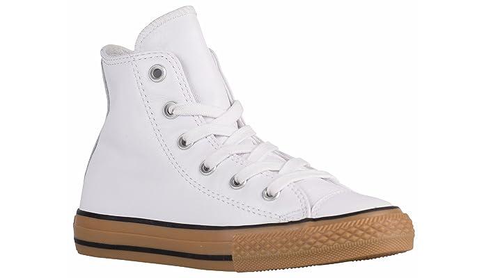 Converse Damen Mädchen Boots Sneaker Gr. 35 (US3) Leder weiß