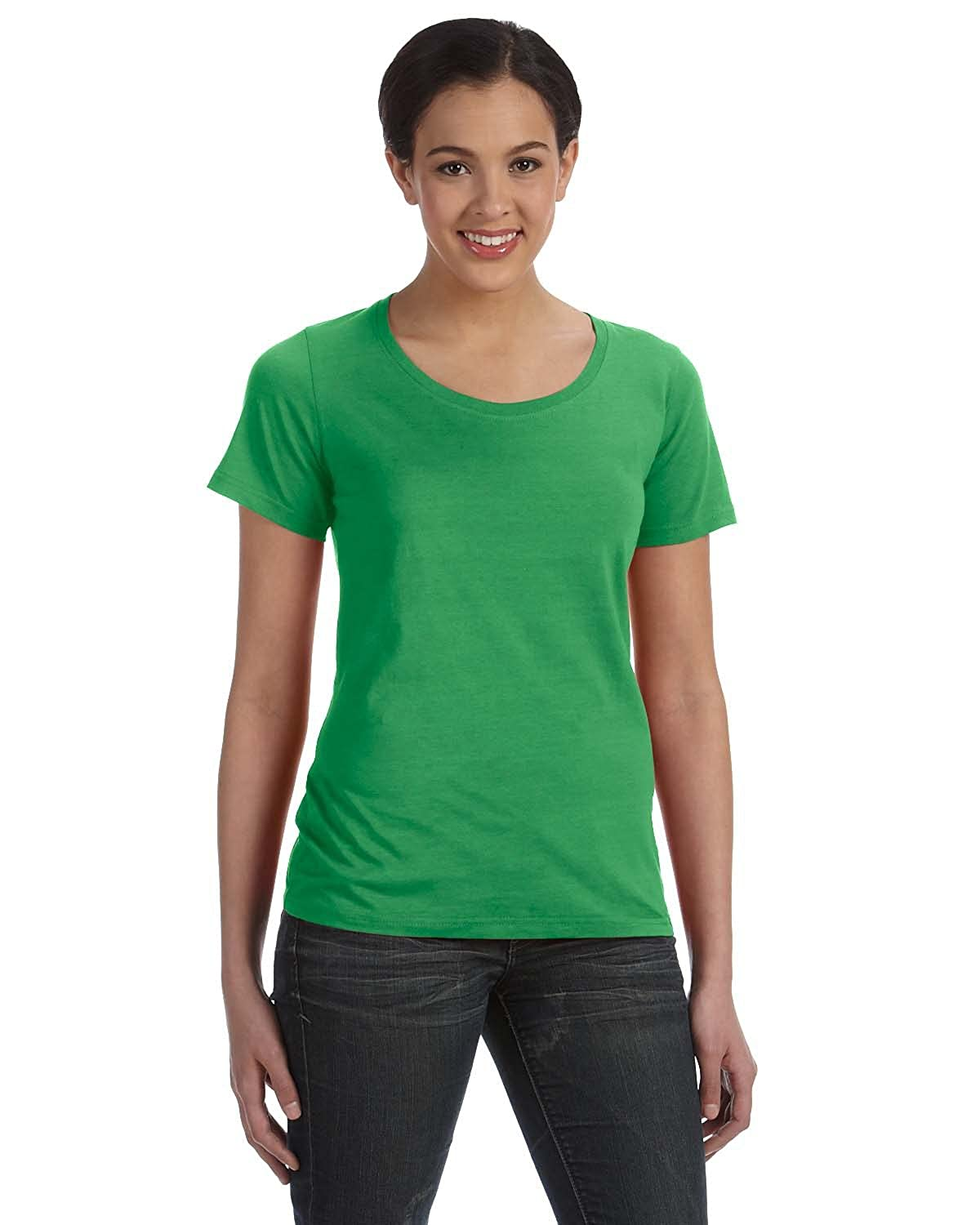 6aed9707389c Anvil 391 Sheer Scoop Neck Tee at Amazon Women's Clothing store: