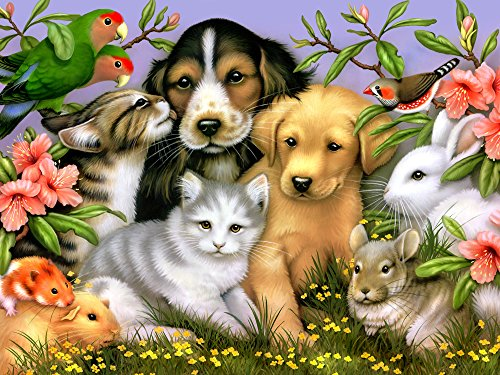 Vermont Christmas Company Loveable Pets Jigsaw Puzzle 550 Piece