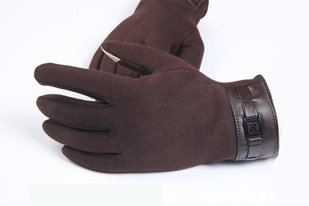 Gloves,toraway Winter Mens Full Finger Smartphone Touch Screen Cashmere Gloves (Brown) by Toraway (Image #2)