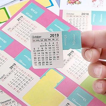 2019 pegatinas de calendario, última versión, calendario ...