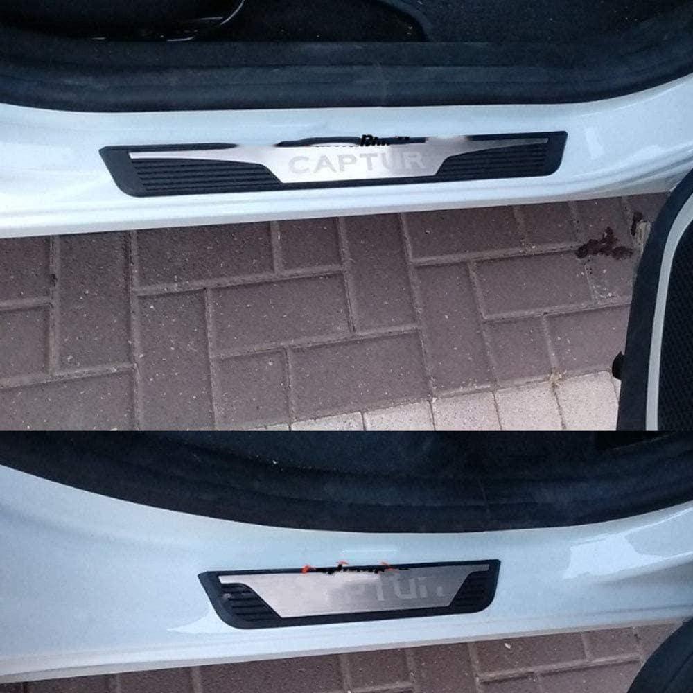 Zh Vbc Autotür Einstiegsleisten Zubehör Für Renault Captur 2014 2020 Verschleißplatte Aufkleber Auto Styling Schwelle Abdeckung Schutzleiste Edelstahl 4 Stück Garten
