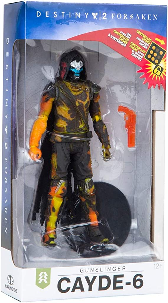 Game Destiny 2 Figure Cayde-6 six 4/'/' Statue with weapon loose no stand toy Gift