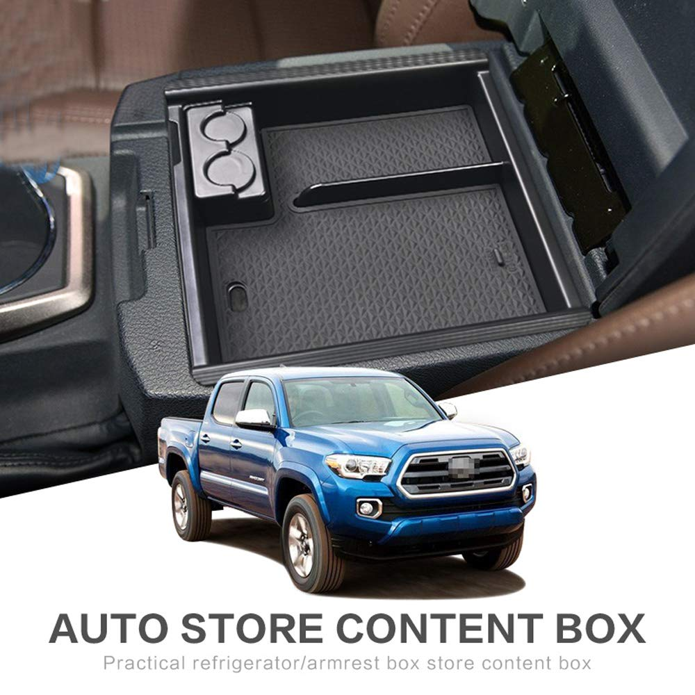Center Console Insert Pallet Organizer for Toyota Tacoma 2016 2017 2018 2019 ABS Tray Armrest Box Glove Box Secondary Storage Accessories