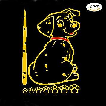 2 Stuck Lustig Beweglichen Schwanz Aufkleber Reflektierend Hunde