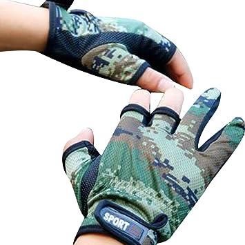 1db00736f78c66 Ndier Angeln Handschuhe 3 Low Cut Fingers Skidproof Angeln Handschuhe Anti  Slip Angel Tackle Handschuhe für