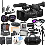 Sony PXW-Z100 4K Handheld XDCAM Camcorder & CS Interview/Documentary Kit: Includes Wireless Lapel & Handheld Microphone Kit, Professional Aluminum Tripod, Weather Proof Case, Sony 32GB G Series XQD Format Version 2 Memory Card, SD Card Reader, Memory Card