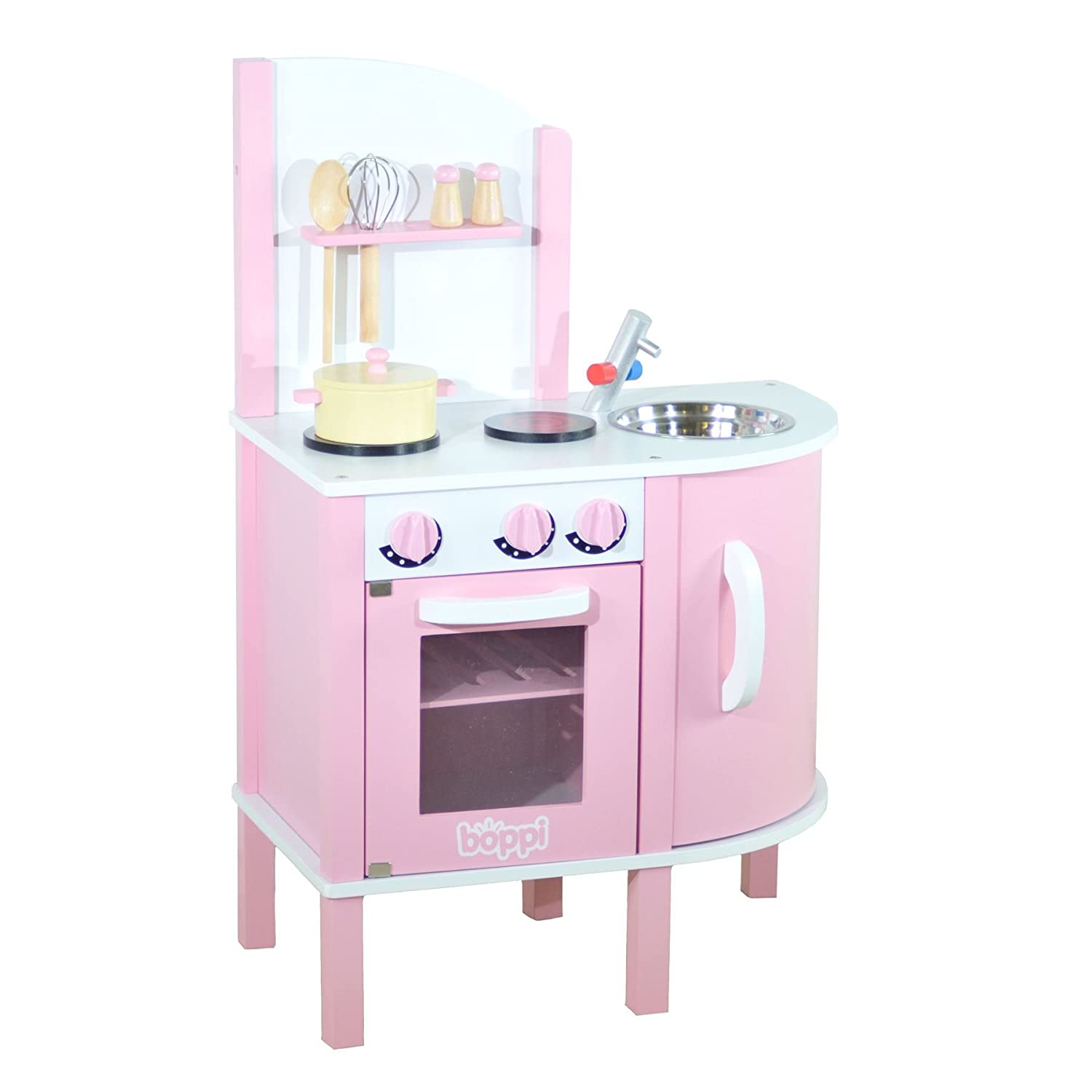 boppi® - Wooden Toy Kitchen Playset with Accessories - 5 Piece ...