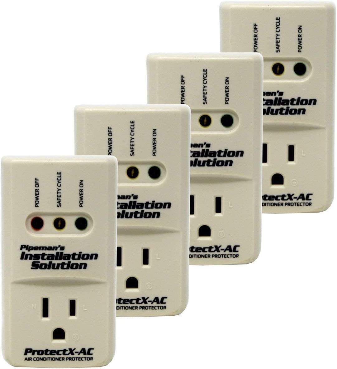 Pipeman's Installation Solution 4-Pack 3600 Watts Air Conditioner Surge Brownout Voltage Protector (New Model)