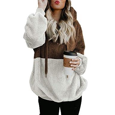 online store e1c17 1dbcb ORANDESIGNE Damen Herbst Winter Pullover Sweatjacke Weiche ...