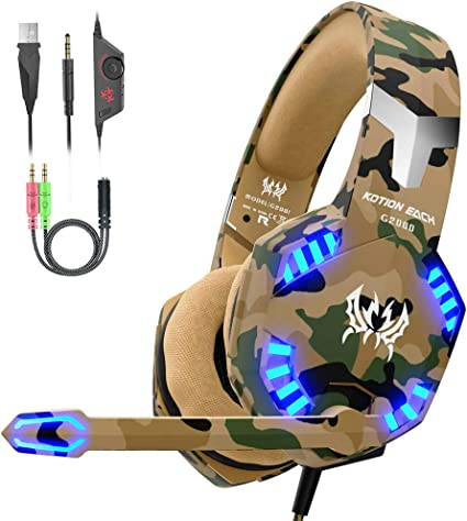 VersionTECH. Auriculares Gaming con Microfono de Diadema-Bass ...
