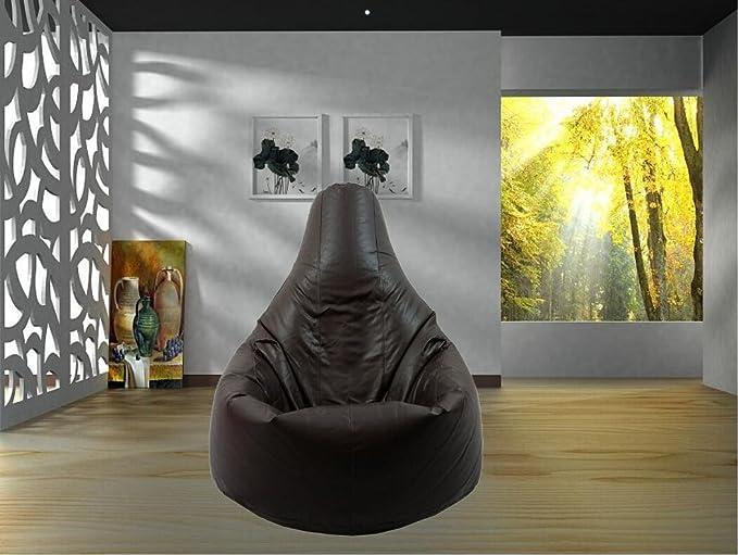 Puf sillón Puff Negro Resistente al Agua de Coche con Respaldo para Uso Interior y Exterior, Ideal para Juegos y jardín, no Cuentas