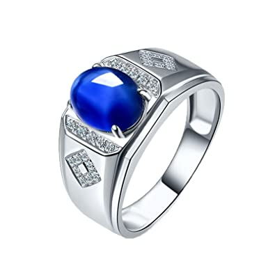 Epinki Alliance Homme 18k Or Blanc Bague 1 05ct Ovale Forme