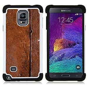 - metal pattern nature brown/ H??brido 3in1 Deluxe Impreso duro Soft Alto Impacto caja de la armadura Defender - SHIMIN CAO - For Samsung Galaxy Note 4 SM-N910 N910