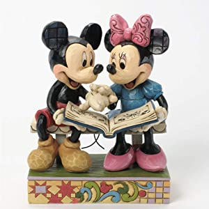 Disney Traditions by Jim Shore 85th Anniversary Mickey and Minnie Mouse Stone Resin Figurine, 6.5""