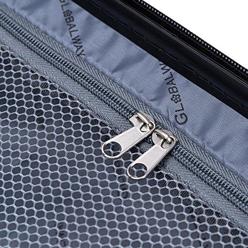 Goplus 3 Pcs Luggage Set ABS Hardshell Travel Bag Trolley Suitcase w/TSA Lock (Grey) by Goplus (Image #6)