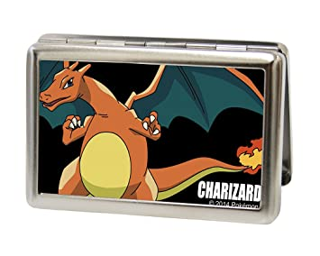 Amazon pokemon metal multi use wallet business card holder pokemon metal multi use wallet business card holder charizard close up reheart Image collections