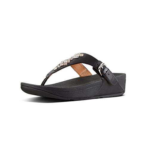 33f2f3ec6d197d Fit Flop Women s Skinny Tm Toe-Thong Sandals Crystal Flip (Black 001)