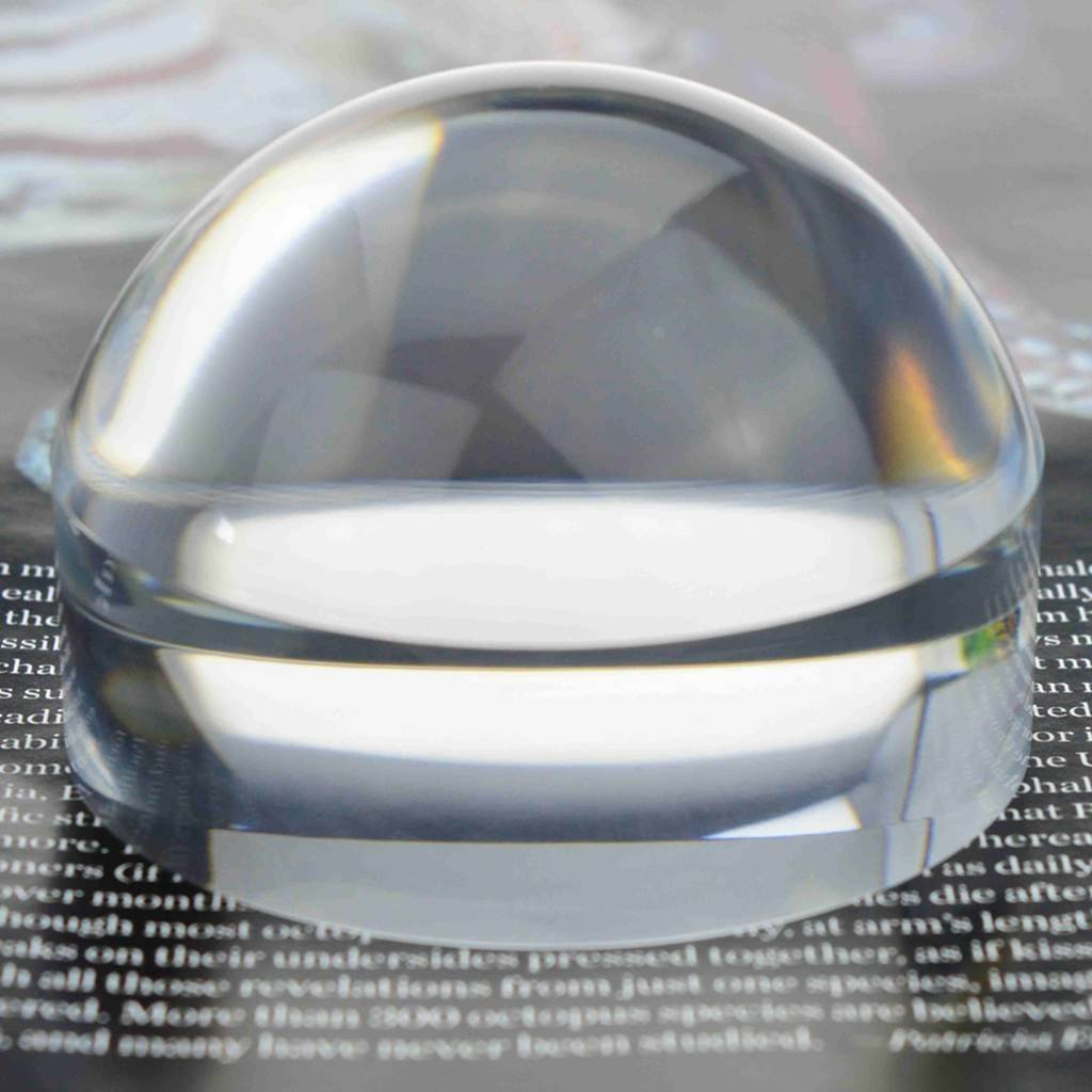 Oande 2.5 Inch Paperweight Magnifier Mirror Crystal Clear Dome Magnifying Glass for Map Magnifying and Reading Aid