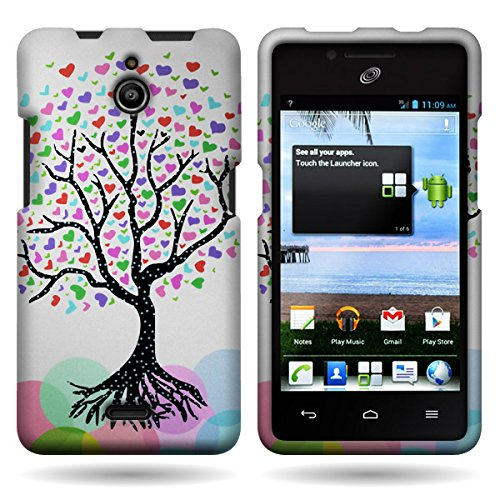 Huawei H881C Case, CoverON [Snap Fit Series] Hard Design Slim Protective Phone Cover Case for Huawei Ascend Plus H881C - Love Tree]()