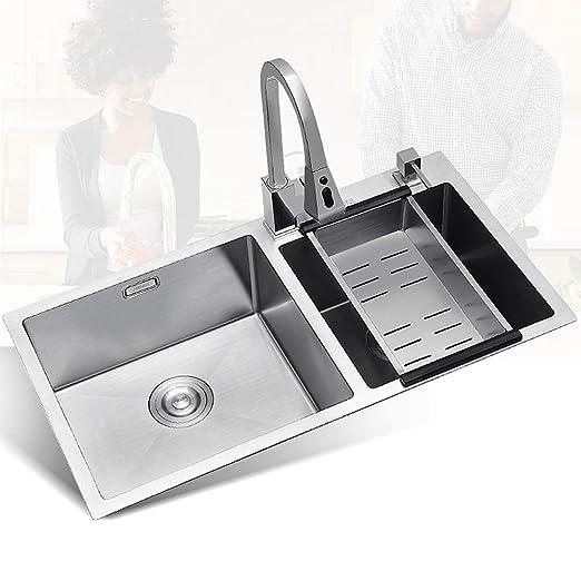 Fregadero de la cocina Fregaderos de Dos Senos Disipador de ...