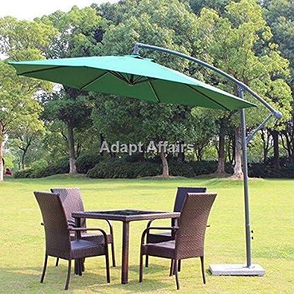 Invezo Impression Side Pole Patio Umbrella 9 Feet Diameter With Base