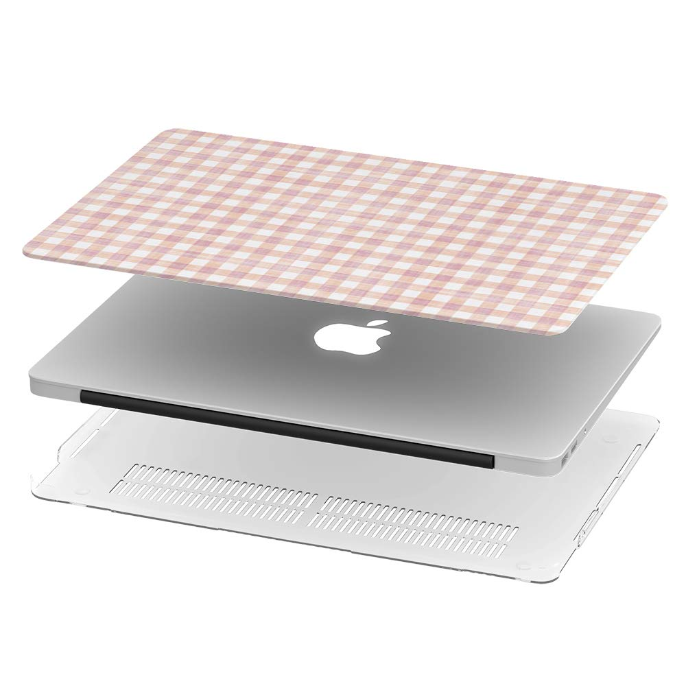 Full Body Hard Case Cover Grungyed Gingham Check Texture Compatible with MacBook Air 11 inch Model A1370 /& a1465