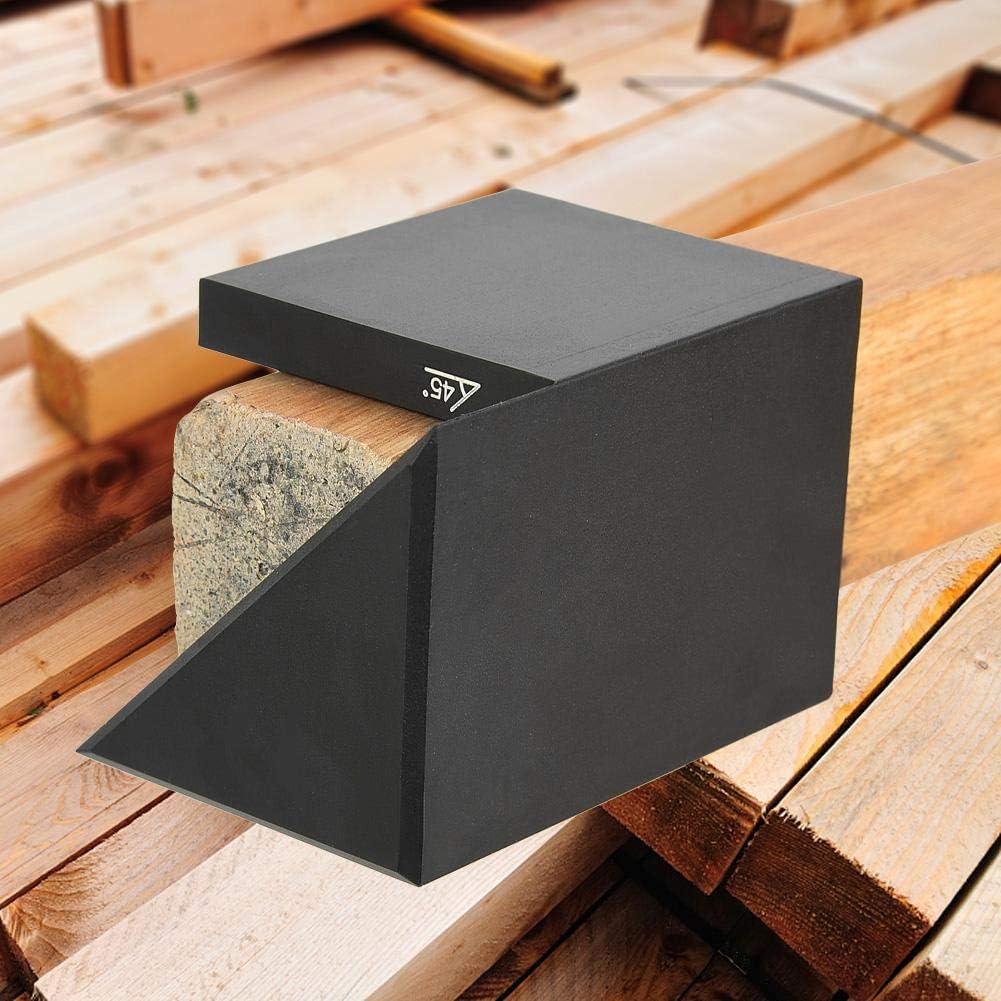 R/ègle dAngle en Aluminium pour Travail du Bois Outil de Scribe de Menuiserie Outil de Marquage du Bois De Mesure dAngle de Scribe en Bois Noir /Écran de 45 Degr/és