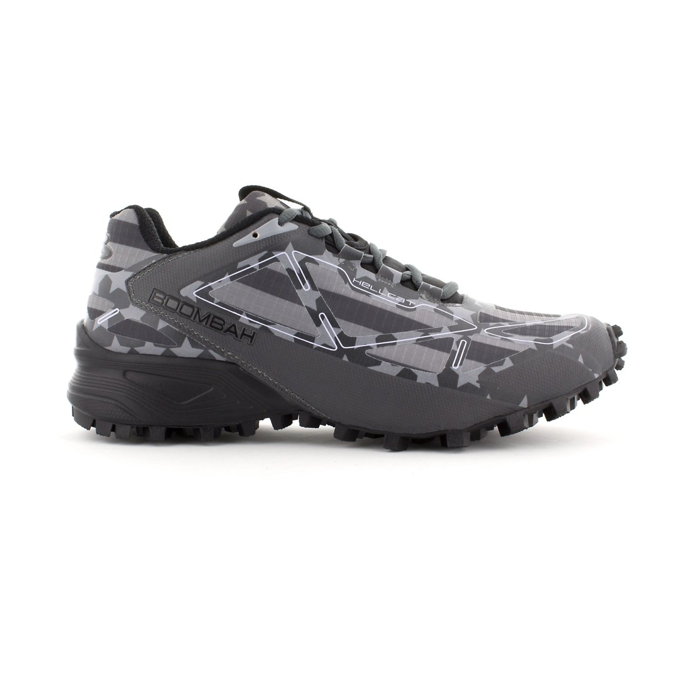 Boombah Men's Hellcat Trail Shoe - 14 Color Options - Multiple Sizes B073X5C3W6 8.5|Black/Charcoal/Gray
