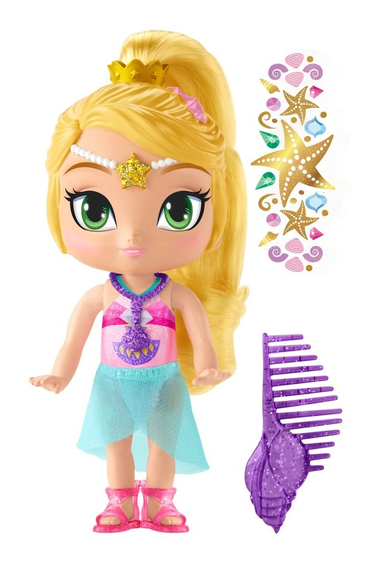 Fisher-Price Shimmer and Shine Beach Leah Doll Mattel DTK84