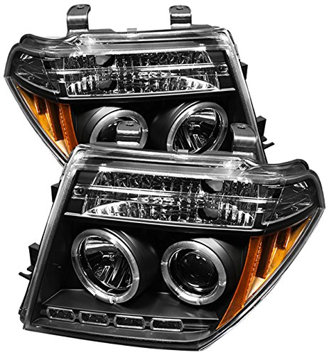 Spyder Auto Nissan Frontier/Pathfinder Black Halogen LED Projector Headlight