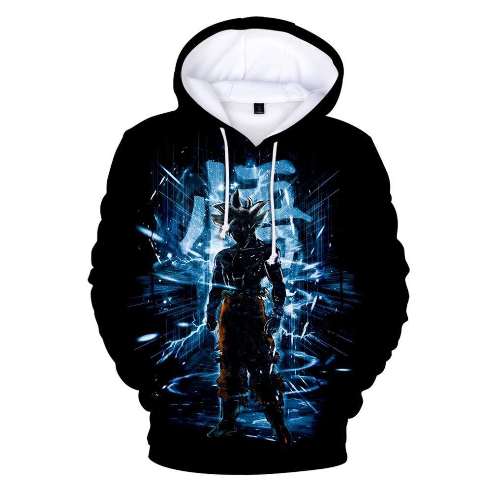 paloli Men Dragon Ball 3D Print Pullover Hoodie Sweatshirt with Kangaroo Pocket