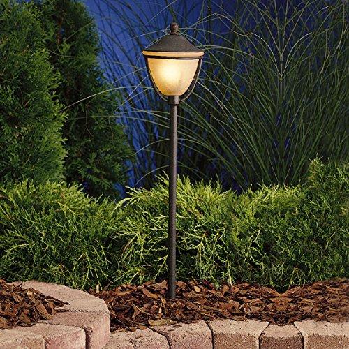Kichler 15367TZT Path & Spread 1-Light 12V, Textured Tannery Bronze