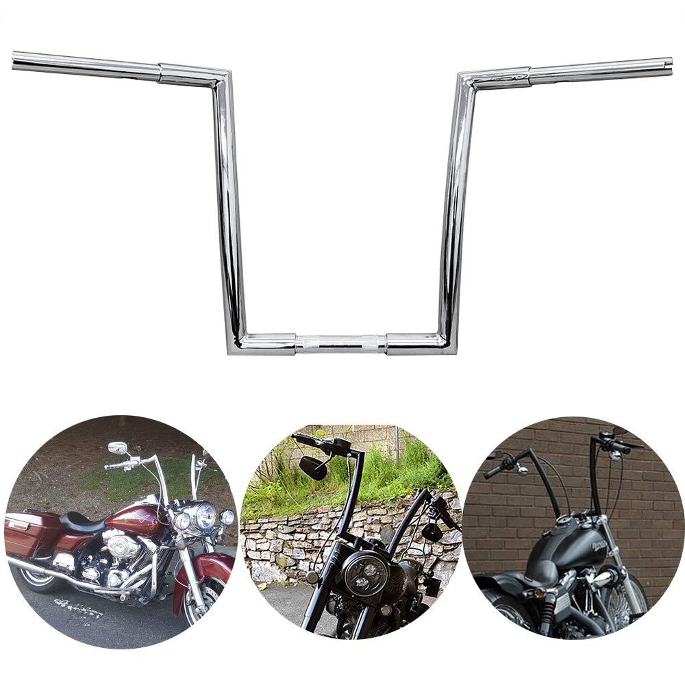TTX-LIGHTING Pre-drilled Chrome 1 1/4'' Chrome Handle Bars 16'' APE Hanger for Harley Davidson 1996-2018 Sportster Softail Dyna 1983-2014 Touring Road King Street Glide FLHR FLHX FLTR FLHT Bagger