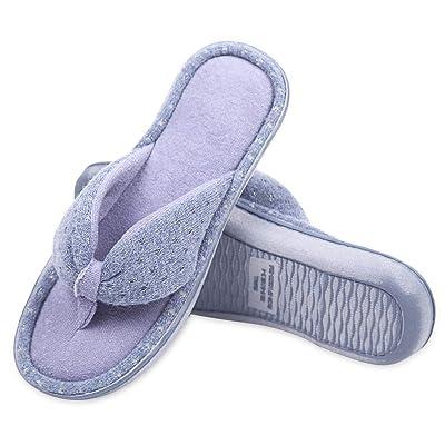 Caramella Bubble Womens Flip Flop Memory Foam Cozy Terry Lining Slippers Open Toe Spa Thong Slide | Slippers