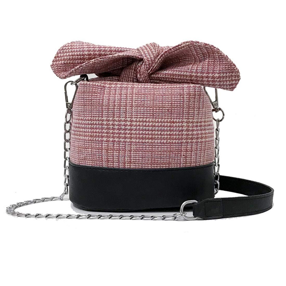 Igspfbjn Igspfbjn Igspfbjn Gitter Eimer Mini-Paket, Umhängetaschen, Umhängetasche PU-Leder für Frauen (Farbe   schwarz) B07KJYXGQ3 Messenger-Bags d62848