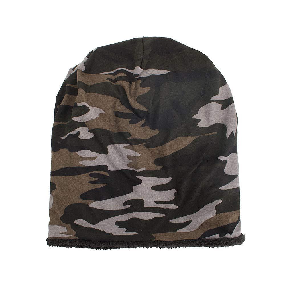 Cappello Unisex, Zolimx Donne Uomini Caldi Baggy Camouflage Crochet Inverno Sci Beanie Skull Caps Cappello di Lana