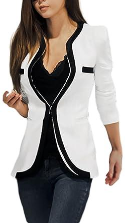 Veste tailleur blanche longue
