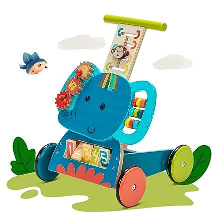 labebe Andador de Madera Multifuncional Bebé - Elefante Azul ...