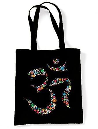 Amazon.com: Tribal camisetas Floral símbolo de OM algodón ...