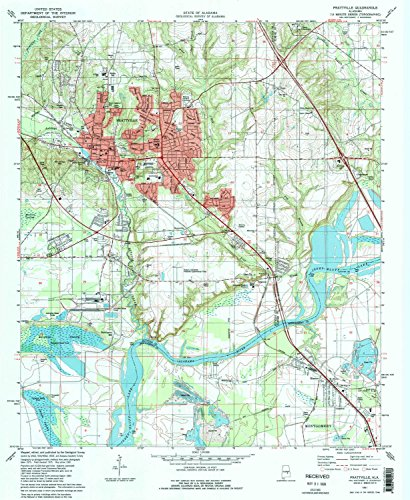 YellowMaps Prattville AL topo map, 1:24000 scale, 7.5 X 7.5 Minute, Historical, 1981, updated 1981, 26.8 x 22 IN - Paper - Heritage Oak Pine