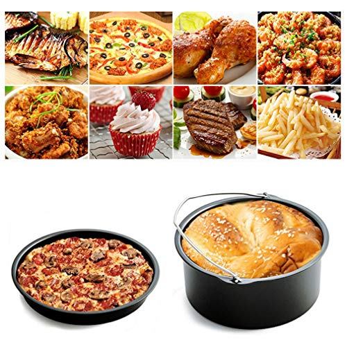 Home Air Fryer Accessories with Fryer, Baking Basket, Pizza Pan, Grill Pot Mat,Metal Holder Multi-functional Kitchen Accessory by Kath (Image #1)