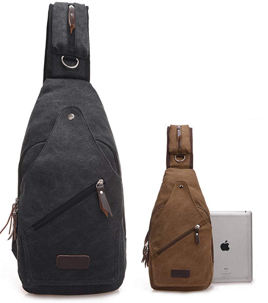 Mochila de LemonGirl para hombre y mujer, bolso bandolera para viaje, senderismo, camping o ciclismo , color negro, tamaño talla única XW250-Black