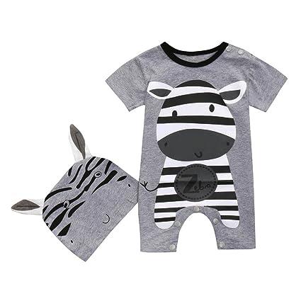 6724de1ad0db Amazon.com  ®GBSELL Newborn Infant Baby Boy Girl Summer Clothes ...